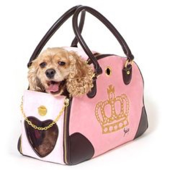 Juicy Couture Handbags - Juicy Couture pink dog 🐶 carrier. Authentic! b126d26963